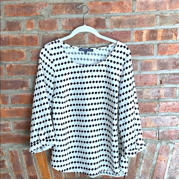 Patterned Blouse by Brixton Ivy